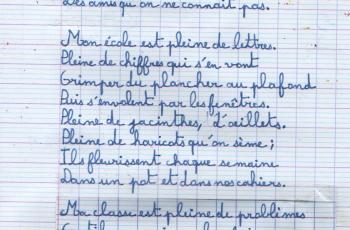 Bien réciter Mon école Gamarra poésie cm2 cm1